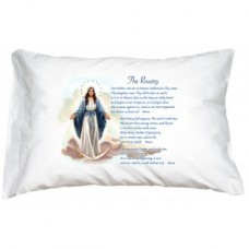 Prayer Pillowcase - Our Lady of Grace/Rosary Prayers