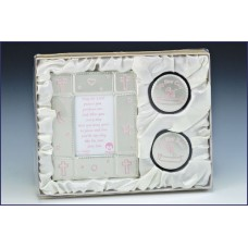 BABY GIRL PICTURE FRAME GIFT SE T