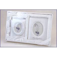 BAPTISMAL SATIN ALBUM & FRAME SET