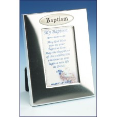 "2x3"" SILVER BAPTISM PHOTO FRAME"