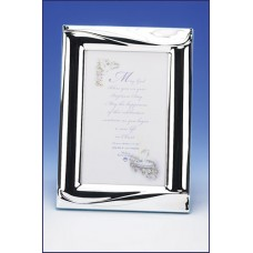 4x6 SILVER PLATED REMEMBRANCE OF MY BAPTISM PHOTO FRAME