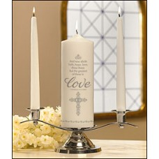 """Faith Hope and Love"" Wedding Unity Candle Set"