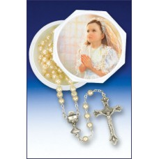 5MM PEARL ROSARY & KEEPSAKE BOX FINCHER-GIRL