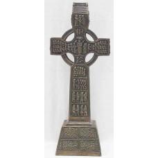 "Genesis Celtic Cross in cold cast bronze  12.25"""