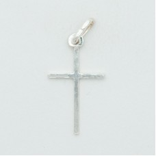 Sterling Silver Rhodium Plated Small Ultralight Cross