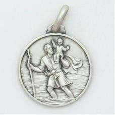 St. Christopher 21MM Diameter (Large) Sterling Silver Pendent