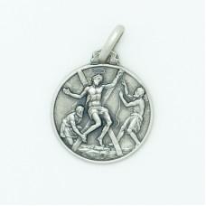 Sterling Silver 16MM Med. Round St. Andrew Medal