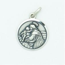 Sterling Silver 16MM Med. Round St. Anthony Medal