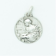Sterling Silver 16MM Med. Round St. Cecilia Medal