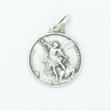 Sterling Silver 16MM Med. Round St. Michael Medal