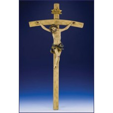 "26"" WOOD CARVED RESIN CRUCIFIX"