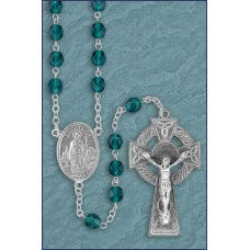 6mm ROUND EMERALD ROMAGNA C&C IRISH ROSARY