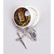 6mm CRYSTAL LOURDES WATER ROSARY WITH BOX