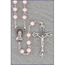 5mm PINK PEARL ROSARY