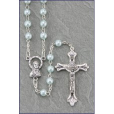 5mm BLUE PEARL ROSARY