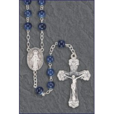 7mm DARK SAPPHIRE MARBLE ROMAGN A ROSARY