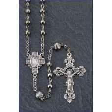5mm ROUND SILVER BEAD ALL STERLING SILVER EXCELSIOR ROSARY