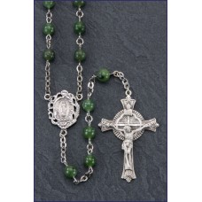 6mm ROUND JADE GEMSTONE ALL STERLING SILVER EXCELSIOR ROSARY