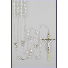 "10mm CRYSTAL LASSO ROSARY 49"" LENGTH"