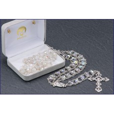 "7mm CRYSTAL AB LADDER ROSARY 20 "" LENGTH"