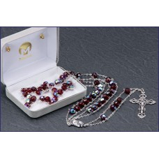 "7mm RUBY AB LADDER ROSARY 20"" LENGTH"
