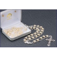 "7mm PEARL LADDER ROSARY 20"" LENGTH"