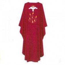 Dove & Flames Chasuble (Polyester)